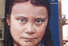 Η Γκρέτα Τούνμπεργκ σε μια γιγαντιαία τοιχογραφία στο Σαν Φρανσίσκο