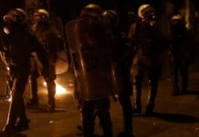 Νεαροί πέταξαν βόμβες μολότωφ εναντίον αστυνομικών στο ΟΑΚΑ