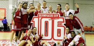 Ρεκόρ με 106 σερί νίκες στο πρωτάθλημα ο Ολυμπιακός