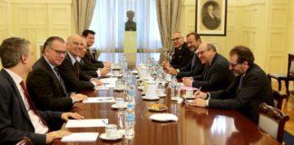 Συνάντηση Ν. Δένδια με τον γενικό διευθυντή του ΔΟΜ