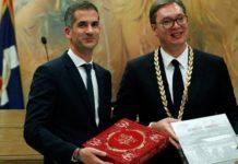 Συνάντηση του προέδρου της Σερβίας  Αλ.Βούτσιτς, με τον Κ. Μπακογιάννη