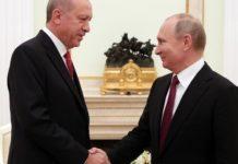 Τηλεφωνική επικοινωνία Ερντογάν-Πούτιν για τη Συρία και τις διμερείς σχέσεις