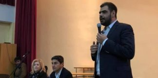 Επίσκεψη της ΟΝΝΕΔ και του Λ. Αυγενάκη στο 4ο Γυμνάσιο Χαλανδρίου
