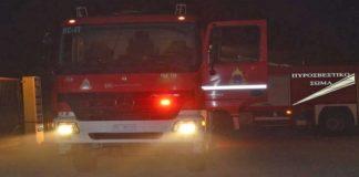 Φωτιά σε εργοστάσιο στην περιοχή της Κατερίνης