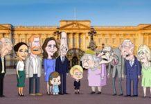 Η βρετανική βασιλική οικογένεια τώρα σε κινούμενα σχέδια