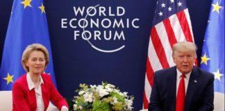 Οι ΗΠΑ και η ΕΕ  θα συζητήσουν μια εμπορική συμφωνία, δήλωσε ο Τραμπ στο Νταβός