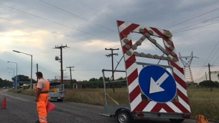 Εργασίες συντήρησης στην Εθνική Οδό 2 Θεσσαλονίκης – Έδεσσας
