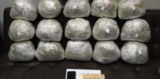 Σύλληψη σαραντατετράχρονου για κατοχή 17 κιλών κάνναβης
