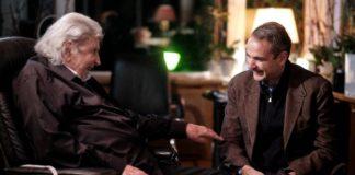 Συνάντηση Κυρ. Μητσοτάκη με Μίκη Θεοδωράκη: «Μια ζεστή απογευματινή συνάντηση με ένα Μεγάλο Έλληνα»
