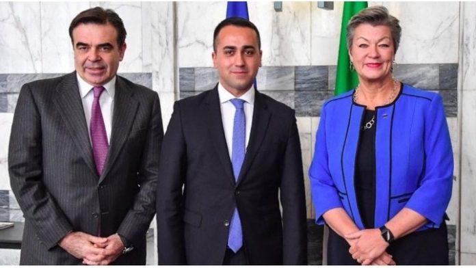 Συνάντηση Μ. Σχοινά στη Ρώμη με τον Ιταλό ΥΠΕΞ Ντι Μάιο και τους υπουργούς Εσωτερικών και Ευρωπαϊκών Θεμάτων