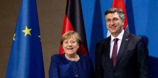Συνάντηση του πρωθυπουργού της Κροατίας με τη Γερμανίδα Καγκελάριο