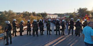 Αναχώρησαν σήμερα το πρωί από το λιμάνι της Μυτιλήνης οι αστυνομικές δυνάμεις