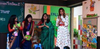 Η Μελάνια Τραμπ επισκέφθηκε σχολείο στο Νέο Δελχί