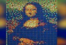 480.000 ευρώ πωλήθηκε σε δημοπρασία η Μόνα Λίζα του Invader, που είχε φιλοτεχνηθεί από κύβους Ρούμπικ