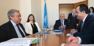 Για Κυπριακό, Αμμόχωστο και ΑΟΖ συζήτησε με τον ΓΓ του ΟΗΕ ο ΥΠΕΞ της Κύπρου Ν. Χριστοδουλίδης