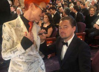 Γιατί ο Μπραντ Πιτ και ο Λεονάρντο ΝτιΚάπριο υπέγραψαν στο κοστούμι της Σάντι Πάουελ;