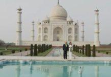 Ντόναλντ και Μελάνια Τραμπ στο Ταζ Μαχάλ