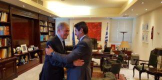 Συνάντηση Αυγενάκη με τους προέδρους της Διεθνούς και της Μεσογειακής Συνομοσπονδίας χάντμπολ