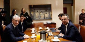 Συνάντηση Χρ. Σταϊκούρα- Μπρούνο Λε Μερ: Πρωτοβουλίες για αντιμετώπιση των επιπτώσεων του κοροναϊού