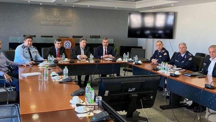 Συνάντηση Κ. Ζέρβα με τον υπ. Προστασίας του Πολίτη, Μ. Χρυσοχοϊδη
