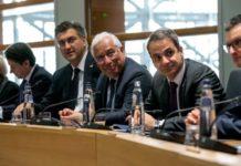 Συνάντηση Μέρκελ, Μακρόν, Σάντσεθ, Μητσοτάκη, Κόντε στα γραφεία της ισπανικής μόνιμης αντιπροσωπείας
