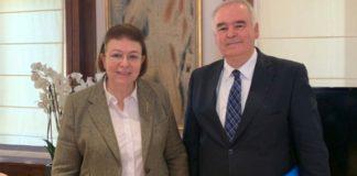 Συνάντηση της Λ. Μενδώνη με τον διευθυντή του Προγράμματος Ελληνικών Σπουδών του Πανεπιστημίου του Κονέκτικατ