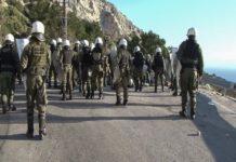 Λέσβος: Εννέα τραυματίες από τις συγκρούσεις στο Διαβολόρεμα