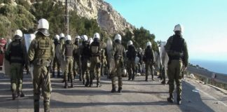 Μερική αποχώρηση των ΜΑΤ από Λέσβο και Χίο