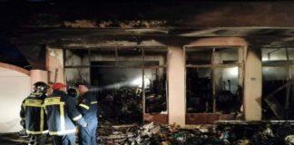Ολική καταστροφή από πυρκαγιά της «Αποθήκης» στην Χίο