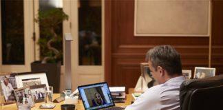Τηλεδιάσκεψη Μητσοτάκη - Γεννηματά για την εξάπλωση του κορονοϊού