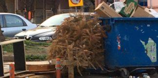 Από καναπέδες, μπετά έως ...χριστουγεννιάτικα δέντρα πετούν στους κάδους