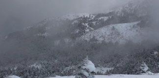 Στα λευκά ο Χορτιάτης - Χιόνια και στην Ελασσόνα