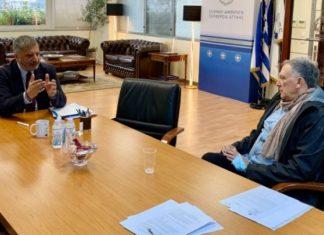 Συνάντηση του Γ. Πατούλη με τον πρόεδρο της Πανελλήνιας Ένωσης Μονάδων Φροντίδας Ηλικιωμένων, Σ. Προσαλίκα