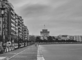 Απόκοσμες εικόνες στην έρημη Θεσσαλονίκη (vd)