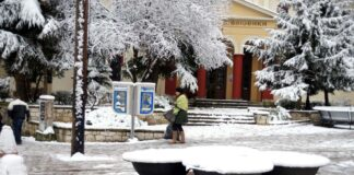 Ιωάννινα: Χιονοπτώσεις στα ορεινά του Κεντρικού Ζαγορίου