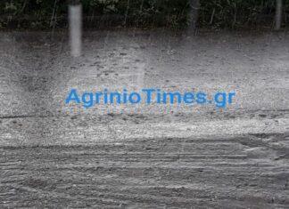 Αγρίνιο: Βροχές και χαλάζι (vd, pics)