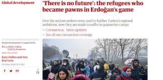 Guardian: «Οι πρόσφυγες πιόνια στο παιχνίδι Ερντογάν»
