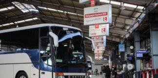 Θεσσαλονίκη: Συγκέντρωση και πορεία διαμαρτυρίας από τους ιδιοκτήτες τουριστικών λεωφορείων