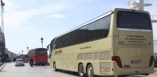 Θεσσαλονίκη: Διαμαρτυρία ιδιοκτητών τουρ. λεωφορείων