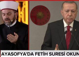 Τουρκία: Ξεκίνησε η προσευχή στην Αγία Σοφία (pic)