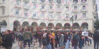 Θεσσαλονίκη: Συγκέντρωση συμπαράστασης μελών της ΚΝΕ για τον λαό της Αμερικής (pics)