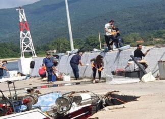 Καθαρισμός του λιμανιού της Ολυμπιάδας από εθελοντές
