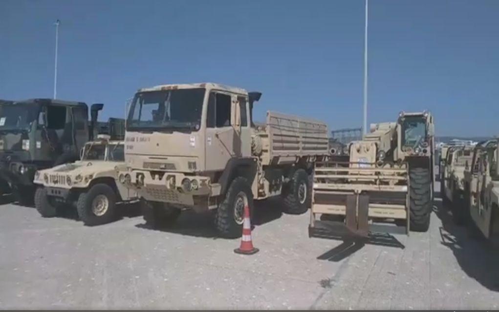 Εξοπλισμός του ΝΑΤΟ στο λιμάνι της Αλεξανδρούπολης